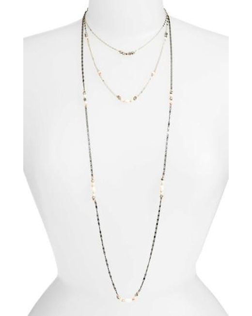 Nakamol - White Layered Chain Necklace - Lyst