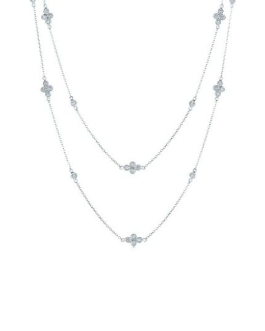 Kwiat | Metallic 'diamond Strings' Long Diamond Station Necklace | Lyst