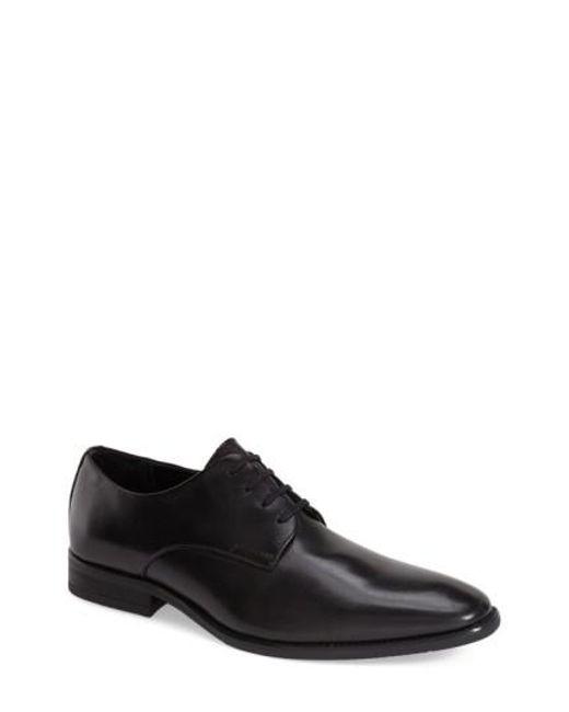 Calvin Klein   Black 'ramses' Plain Toe Derby for Men   Lyst