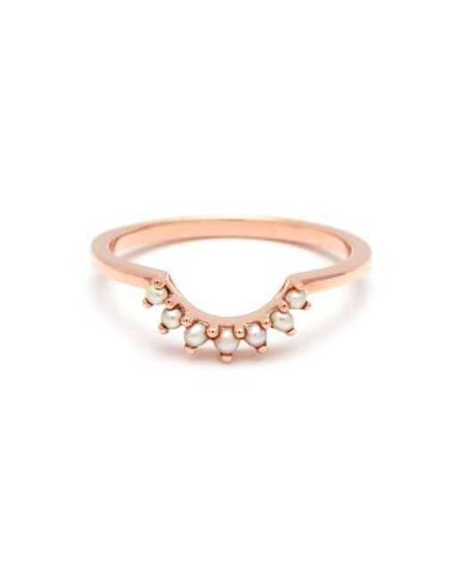 Anna Sheffield | Pink 'grand Tiara' Seed Pearl Ring | Lyst