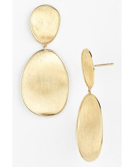 Marco Bicego - Yellow 'lunaria' Drop Earrings - Lyst