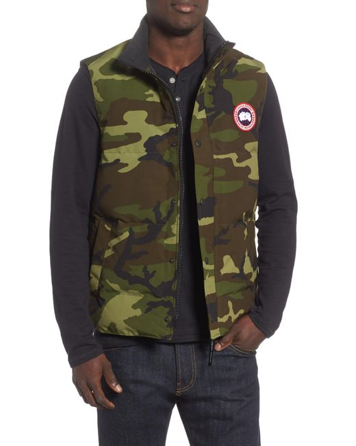 458353a4cb8b2 Canada Goose - Green Garson Regular Fit Quilted Down Vest for Men - Lyst ...