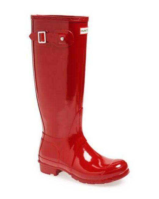 Hunter - Red Original High Gloss Boot - Lyst