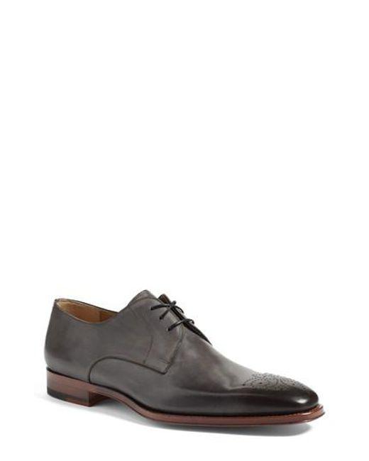 Magnanni Shoes | Gray 'gerardo' Medallion Toe Derby for Men | Lyst