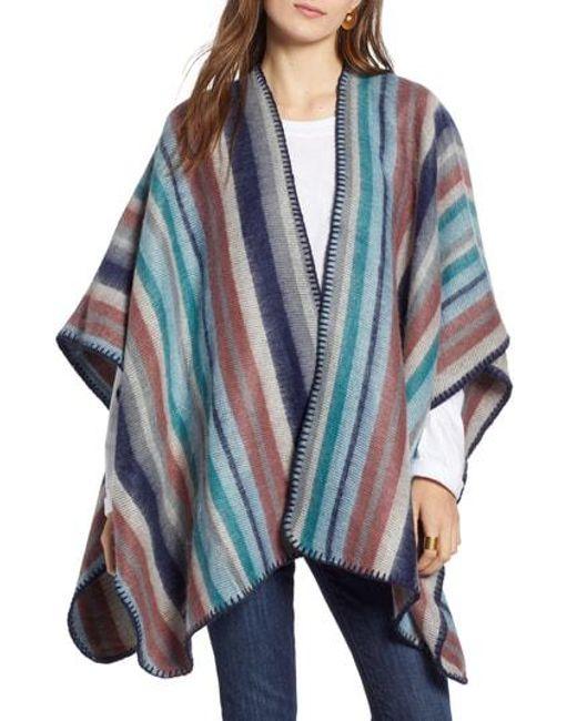 Treasure & Bond - Blue Stripe Blanket Wrap - Lyst
