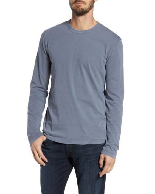 James Perse - Gray Long Sleeve Crewneck Tshirt for Men - Lyst