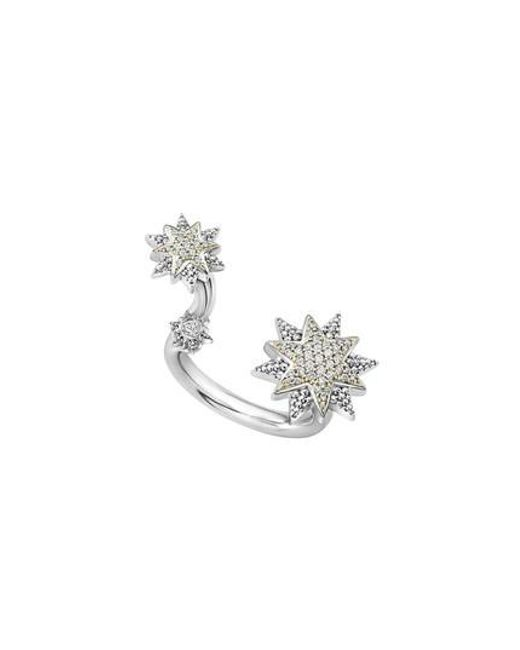 Lagos - Metallic 18k Gold & Sterling Silver North Star Diamond Ring - Lyst