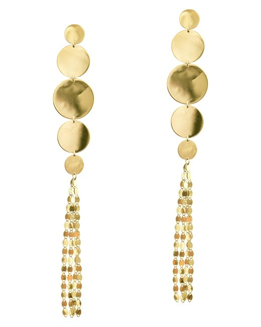 Lana Jewelry - Metallic Disc Nude Long Drop Earrings - Lyst