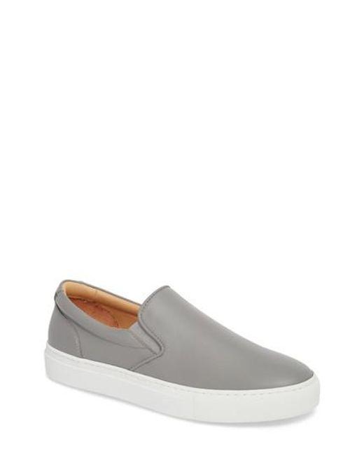 GREATS - Gray Wooster Slip-on Sneaker - Lyst