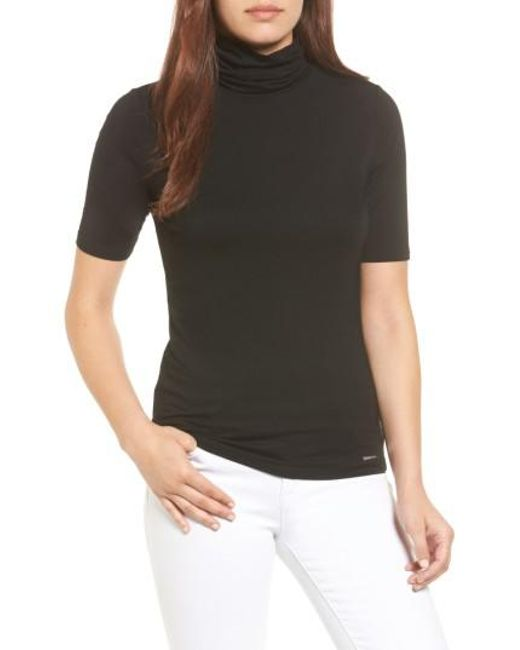 MICHAEL Michael Kors | Black Turtleneck Top | Lyst