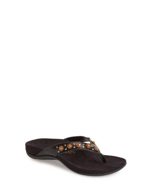 Vionic | Brown 'floriana' Flip Flop | Lyst