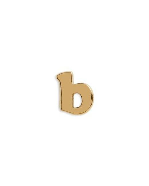 Madewell - Metallic Initial Stud Earrings - Lyst