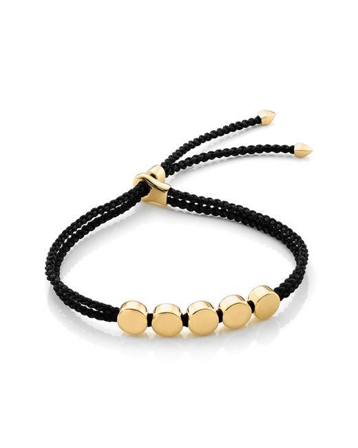 Monica Vinader - Black Engravable Linear Bead Friendship Bracelet - Lyst