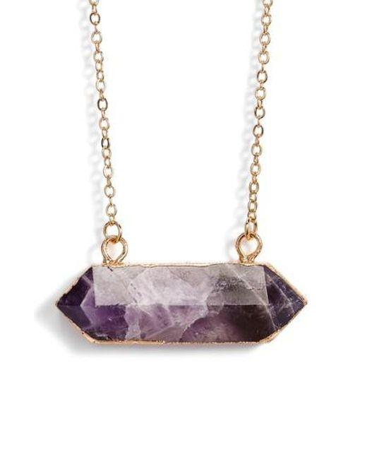 Elise M | Multicolor Riva Stone Pendant Necklace | Lyst