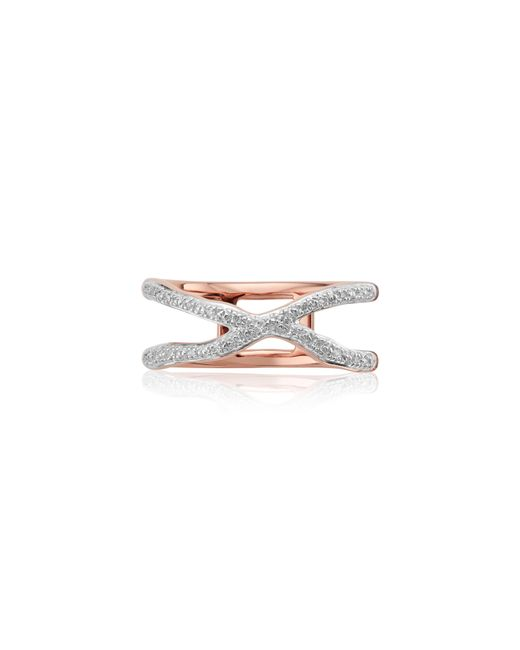 Monica Vinader - Metallic Riva Diamond Ring - Lyst