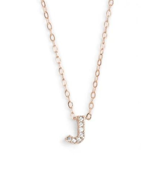Nadri - Metallic Initial Pendant Necklace - Lyst