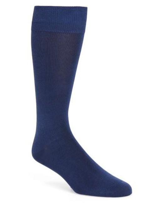 Calibrate | Blue Cotton Blend Socks for Men | Lyst