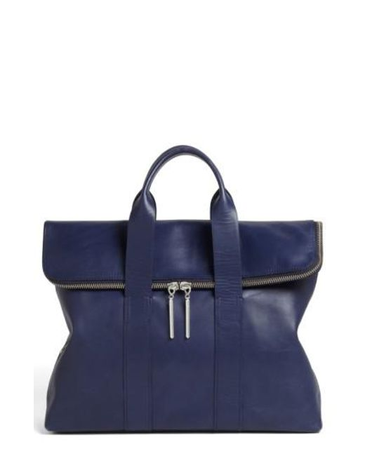 3.1 Phillip Lim - Blue '31 Hour' Leather Tote - Lyst