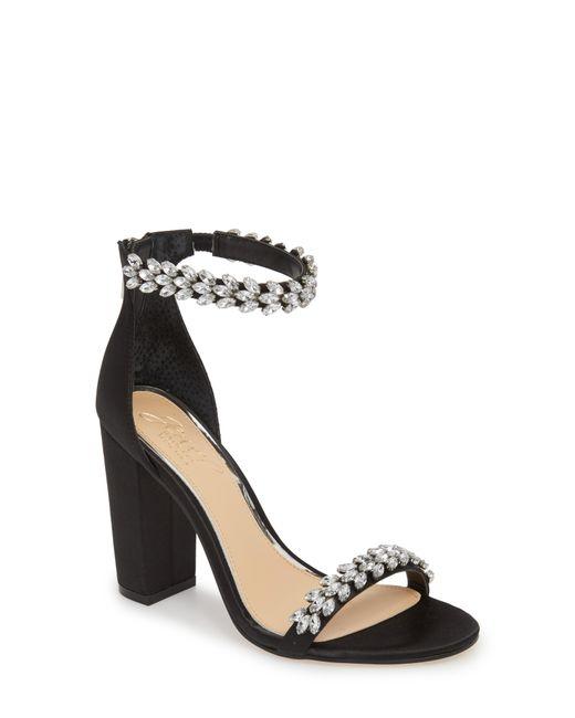 Badgley Mischka - Black Jewel By Badgley Mischka Mayra Embellished Ankle Strap Sandal - Lyst