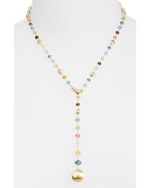 Marco Bicego - Metallic Africa Semiprecious Stone Lariat Necklace - Lyst