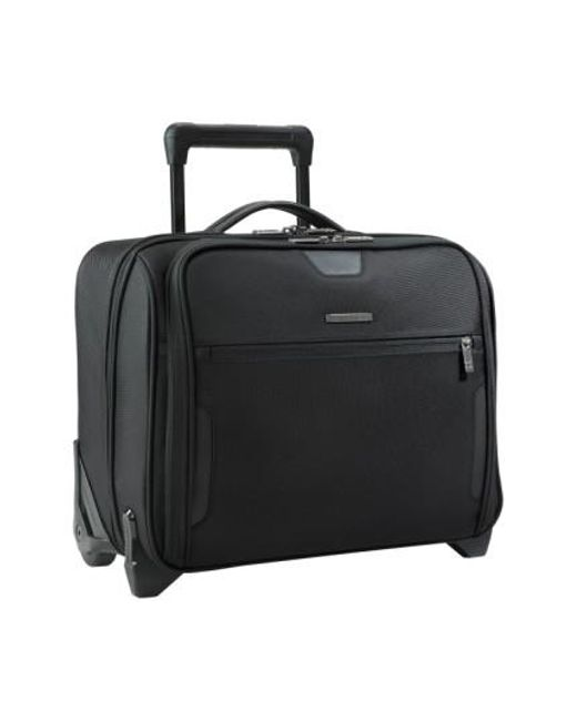 Briggs & Riley | Black 'medium Slim' Rolling Ballistic Nylon Briefcase for Men | Lyst