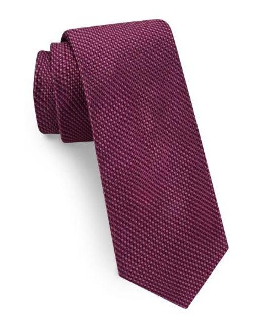 Ted Baker | Purple Solid Skinny Silk Tie for Men | Lyst