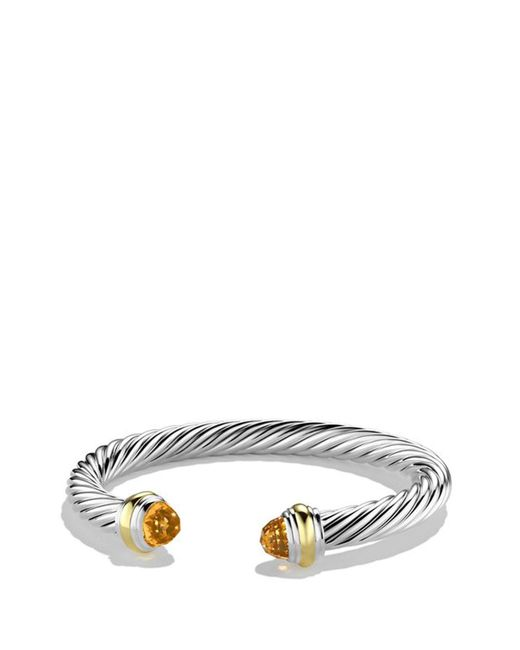 David Yurman - Metallic Cable Classics 7mm Bracelet With 14k Gold - Lyst