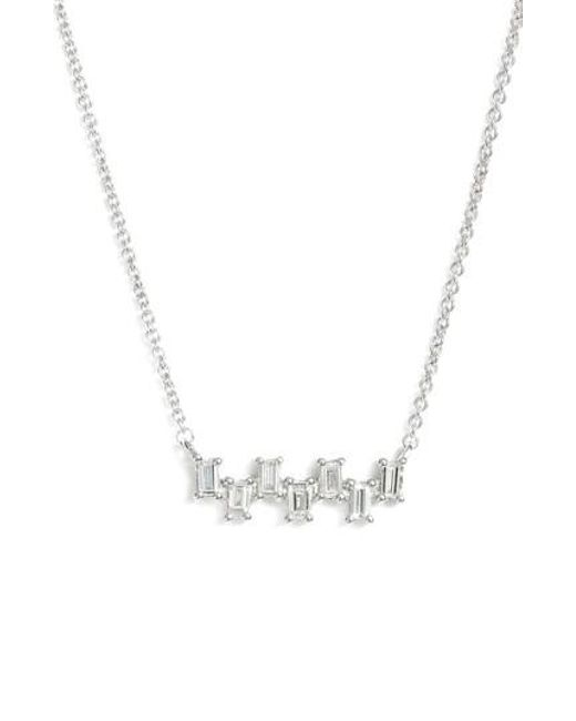 Dana Rebecca | Metallic Sadie Diamond Bar Pendant Necklace | Lyst