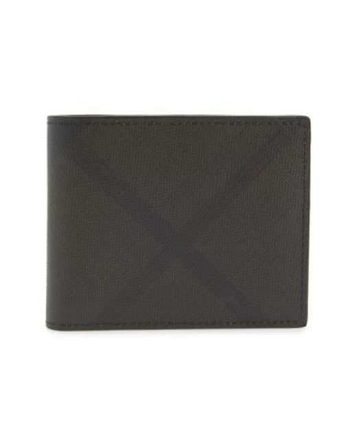 Burberry - Black London Check Faux-Leather Wallet for Men - Lyst