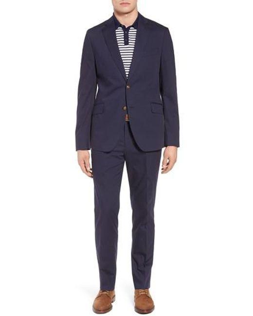Kroon - Blue Irons Aim Classic Fit Solid Cotton Blend Suit for Men - Lyst