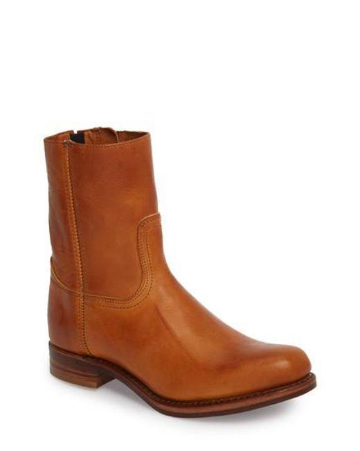 Frye | Brown Campus Side Zip Boot for Men | Lyst