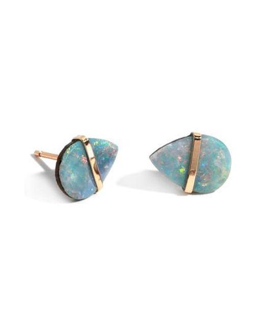 Melissa Joy Manning - Blue Semiprecious Stone Stud Earrings - Lyst