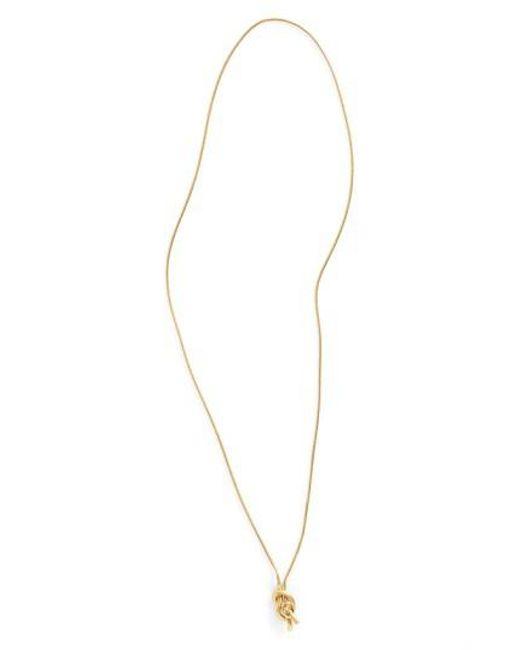 Madewell   Metallic 'knotshine' Necklace   Lyst
