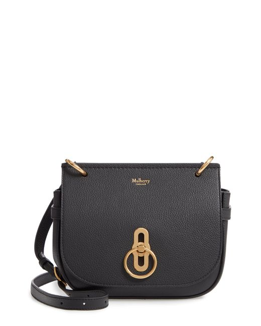 Lyst - Mulberry Small Amberley Leather Crossbody Bag - in Black d2379ed280bf0