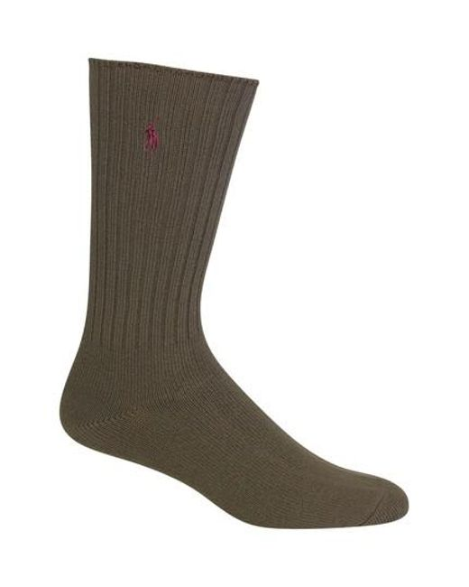 Polo Ralph Lauren - Green Crew Socks for Men - Lyst