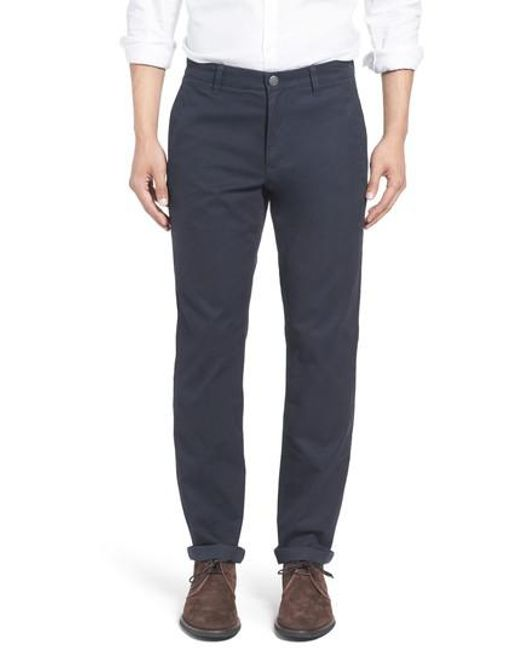 Bonobos - Gray Tailored Fit Washed Chinos for Men - Lyst