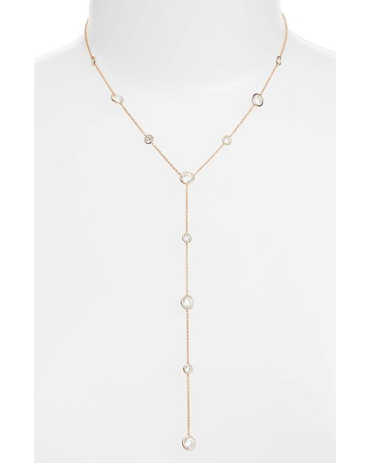 Nadri - Metallic Bezel Y Necklace - Lyst