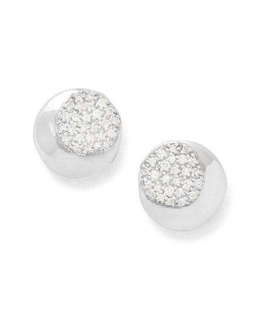 Ippolita - Metallic Onda Pave Diamond Stud Earrings - Lyst