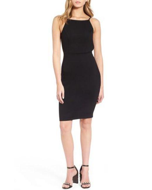 Soprano   Black Open Back Body-con Dress   Lyst