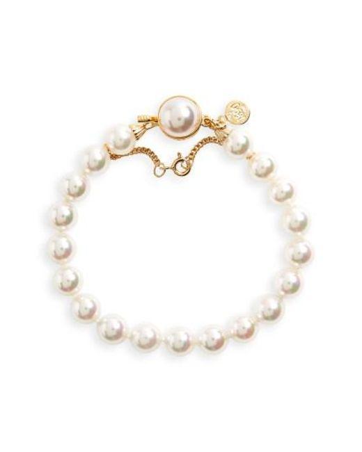 Majorica | White 8mm Single Row Pearl Bracelet | Lyst
