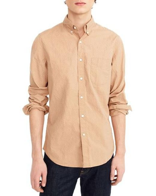 Discount Low Price Fashion Style J.Crew Slim Fit Stretch Secret Wash Garment Dyed Sport Shirt Cheap Sale Cost Pyatf