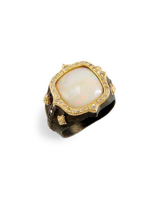 Armenta - Metallic Old World Cushion Opal Ring - Lyst