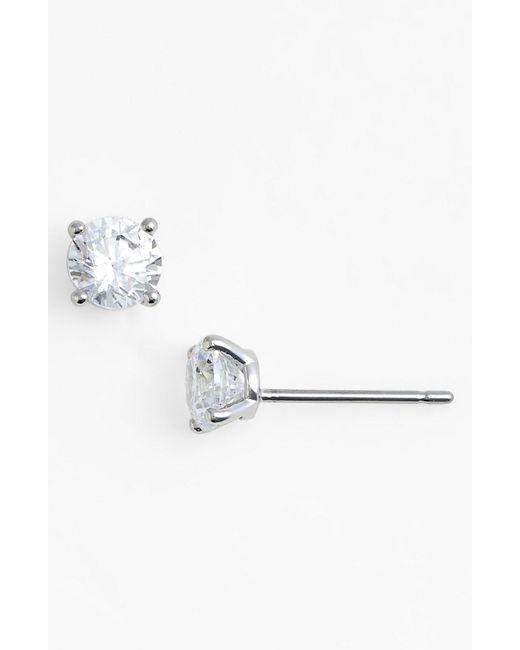 Nadri - Metallic Cubic Zirconia Stud Earrings - Lyst