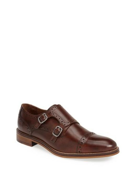 Johnston & Murphy - Brown 'conard' Double Monk Strap Slip-on for Men - Lyst