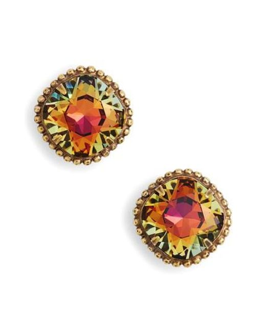 Sorrelli | Multicolor Cushion Cut Solitaire Stud Earrings | Lyst