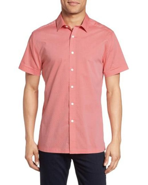 Vince Camuto | Pink Short Sleeve Sport Shirt for Men | Lyst
