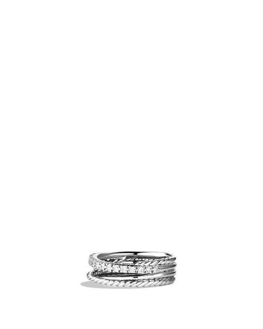 David Yurman - Multicolor 'crossover' Ring With Diamonds - Lyst