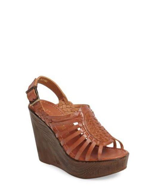 Very Volatile - Brown Prolific Wedge Sandal - Lyst