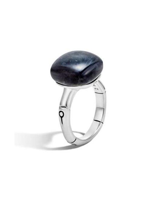 John Hardy | Multicolor 'bamboo' Semiprecious Stone Ring | Lyst