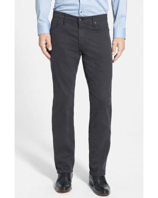 AG Jeans - Gray 'graduate Sud' Slim Straight Leg Pants for Men - Lyst